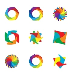 Sign download colorful icons set cartoon style vector