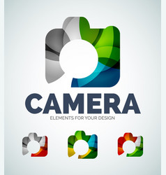 Photo camera abstract icons vector