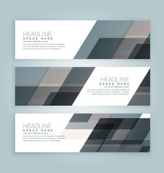 Business style web banners set of three vector