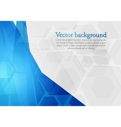 Bright blue technology design vector