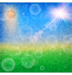 Abstract particles bokeh flare summer pattern vector