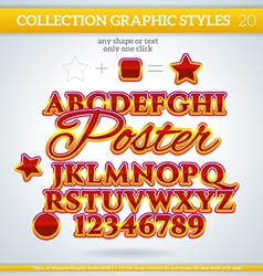 Poster graphic styles for design use for decor vector