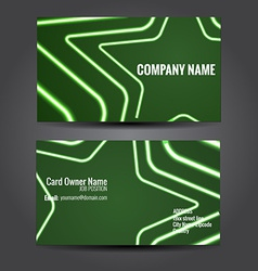 Stylish green business template vector