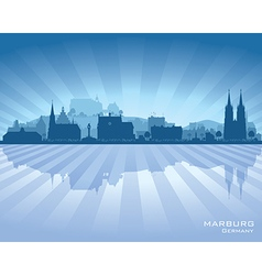 Marburg germany city skyline silhouette vector