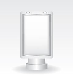 city light billboard vector image