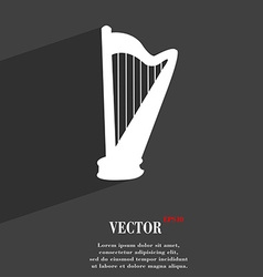 Harp symbol flat modern web design with long vector