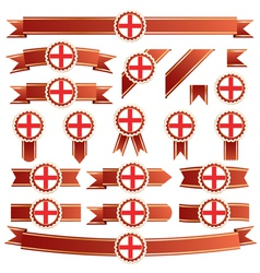 England ribbons vector