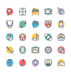 Sports cool icons 2 vector