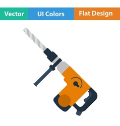 Flat design icon of electric perforator vector