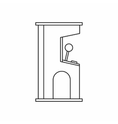 Arcade game machine icon outline style vector