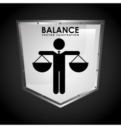 balance icon design vector image