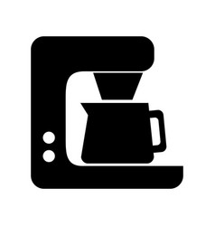 Black coffe maker graphic design vector