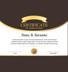 certificate template warranty 2 vector image