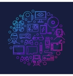 Electronic devices and gadgets symbol vector image vector image