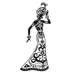Ethnic dance african woman vector image