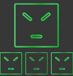 Green anger concept logo design set vector