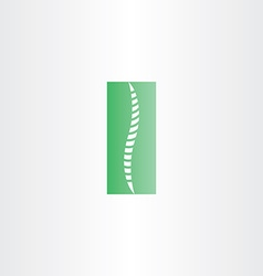 Green healthy spine icon vector