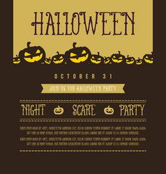 halloween style poster collection vector image