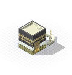 Isometric masjid al-haram the sacred mosque vector