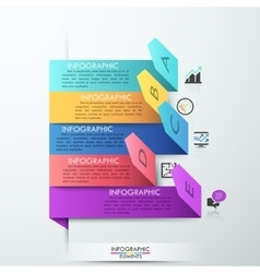 Modern arrow paper style step up options banner vector