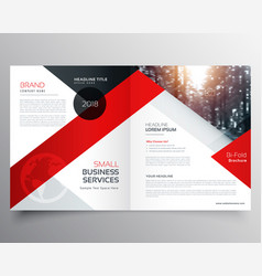 Modern business bifold brochure design template vector