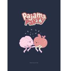 Pajama party poster vector image