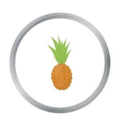 Pineapple icon cartoon Singe fruit icon vector image