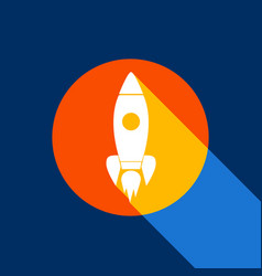rocket sign white icon on vector image vector image