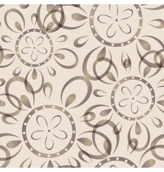 Seamless background with imprinted flower pattern vector image