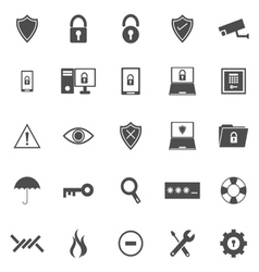 Security icons on white background vector image