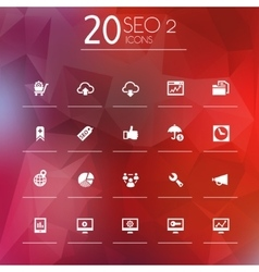 Seo 2 icons on bright blurred background vector
