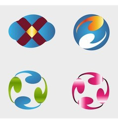 Set of logos template element vector image vector image
