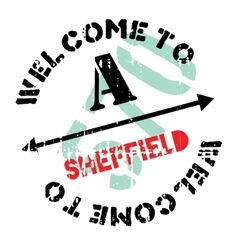 Sheffield stamp rubber grunge vector
