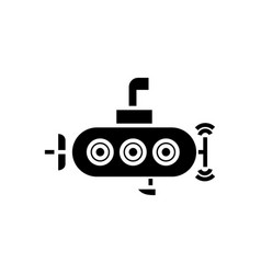 submarine icon black sign on vector image