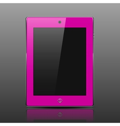 Tablet computer pink color vector