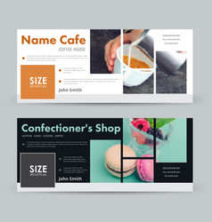 template banner for advertising a coffee house a vector image