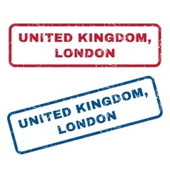 United Kingdom London Rubber Stamps vector image