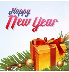 With new year lettering vector
