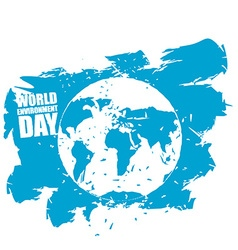 World Environment Day Emblem of Earth in grunge vector image vector image