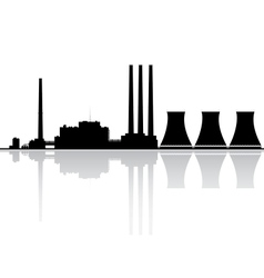 Power plant silhouette vector