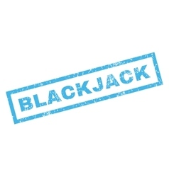 Blackjack rubber stamp vector