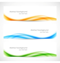 Set of colorful softness banners vector