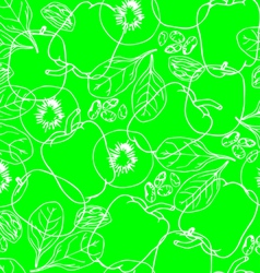 Vegetables contour seamless pattern vector