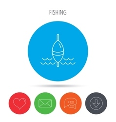 Fishing float icon fisherman bobber sign vector