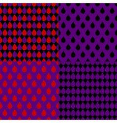 Set red purple water drops background vector