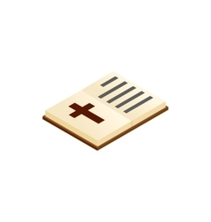 Bible open isometric 3d icon vector