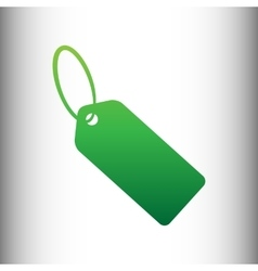 Tag sign green gradient icon vector