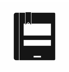 Closed book icon simple style vector
