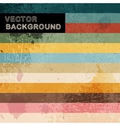 Abstract retro background with stripes vector image vector image