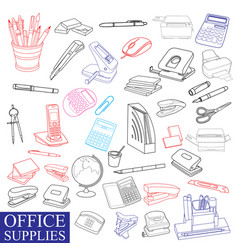 accessories to office vector image